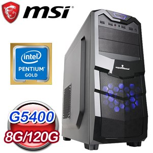 微星 文書系列【遠古魔導】G5400雙核 商務電腦(8G/120G SSD)