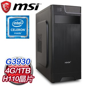 微星 MANAGER【小資主義Z】Intel G3930 雙核心高效能電腦