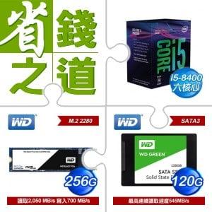 i5-8400+WD (黑標) 256GB M.2 2280 SSD+WD SSD (綠標) 120G(X2)