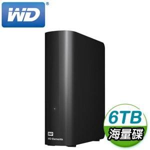 WD 威騰 Elements 6TB 3.5吋 USB3.0 外接硬碟(WDBBKG0060HBK-SESN)