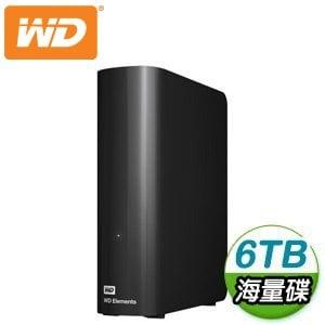 WD 威騰 Elements Desktop 6TB 3.5吋 USB3.0 外接硬碟(WDBBKG0060HBK-SESN)
