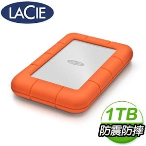 LaCie Rugged 1TB USB3.0 TypeC 2.5吋外接硬碟(STFR1000800)