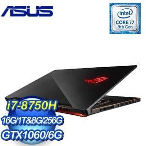 ASUS 華碩 ROG 西風之神M GM501GM-0021A8750H 15.6吋筆記型電腦 (i7-8750H/16G/1T&8G SSH+256G/GTX 1060/WIN10)