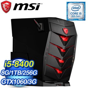 MSI 微星 Aegis3 8RC-002TW 電競桌上型電腦(i5-8400/8G/1TB+256G SSD/GTX1060/WIN10)