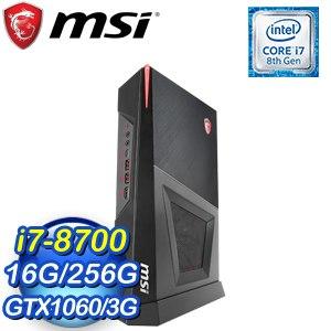 MSI 微星 Trident 3 8RC-066TW 電競桌上型電腦(i7-8700/16G/256G SSD/GTX1060/WIN10)