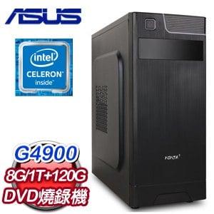華碩 文書系列【高分秘笈】G4900雙核 商務電腦(8G/120G SSD/1TB)