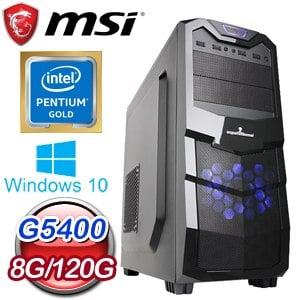 微星 文書系列【成仁取義】G5400雙核 商務電腦(8G/120G SSD/WIN 10)