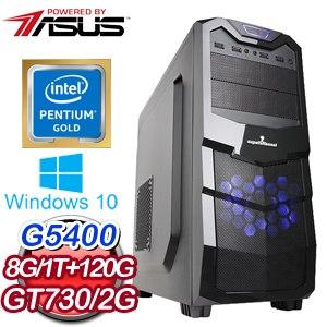 華碩 MANAGER【負氣仗義】Intel G5400雙核心 獨顯飆速電競機《含WIN10》