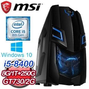 微星 電玩系列【樂善好義】i5-8400六核 N730K 娛樂電腦(8G/250G SSD/1TB/WIN 10)