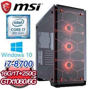 微星 HIGHER【正言直諫】Intel i7-8700 六核心 高效能SSD電競電腦《含WIN10》