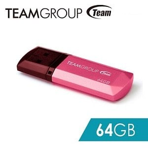 TEAM 十銓科技 C153璀璨星砂碟-蜜桃粉-64GB