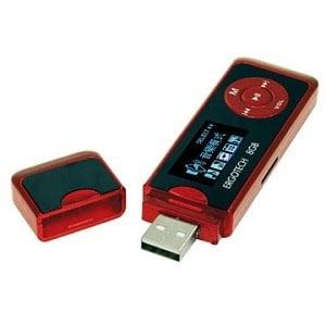 Ergotech人因科技 草莓戀人可插卡MP3/錄音筆(8GB)紅色