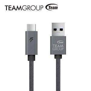 TEAM 十銓科技 USB 3.1 Gen1 TypeC充電/傳輸線-灰