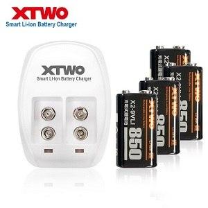 Xtwo 高容量850型 9V 鋰電充電組(附4顆電池)
