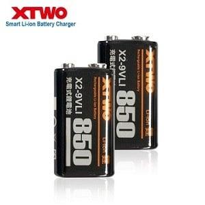 Xtwo 高容量850型 9V鋰充電電池-2入