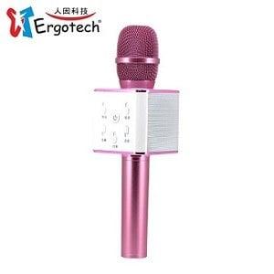 Ergotech人因科技 加強版無線K歌麥克風音響-粉