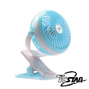 T.C.STAR  颶風可夾式隨身涼風扇(藍)
