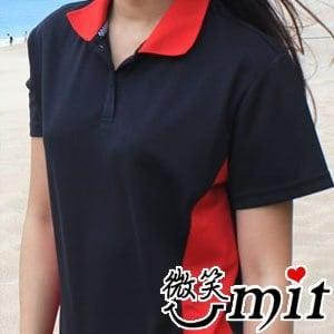 【微笑MIT】CHIAMEI 咖啡紗針織POLO杉 女款MS-301006(黑/L)