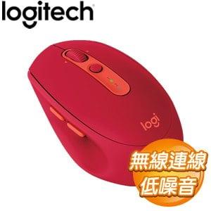 Logitech 羅技 M590 多工靜音無線滑鼠《寶石紅》