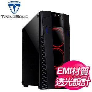 TrendSonic 翰欣【馬洛斯】透側 ATX電腦機殼《黑》