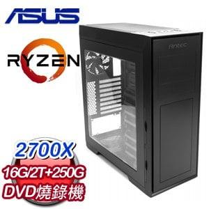華碩 GAMER【專屬天使】AMD Ryzen 7 2700X八核心 高效能飆速電腦
