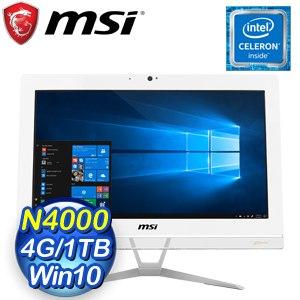 MSI 微星 Pro 20EX 8GL-002TW 20型AIO液晶電腦(N4000/4G/1TB/Win10)