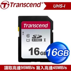 Transcend 創見 300S 16G SDHC Class 10 UHS-I 記憶卡(TS16GSDC300S)