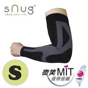 【sNug】運動壓縮袖套C014(黑/S)