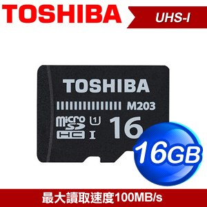 Toshiba 東芝 16GB EXCERIA M203 microSDHC UHS~I