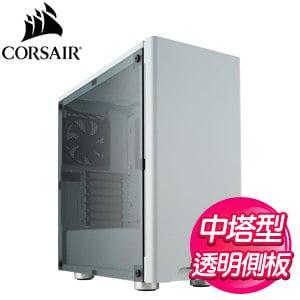 Corsair 海盜船【Carbide 275R】ATX透側電競機殼《白》