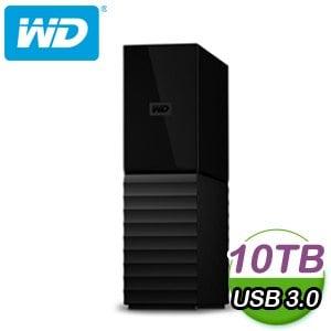 WD 威騰 My book 10TB USB3.0 3.5吋外接硬碟(WDBBGB0100HBK-SESN)
