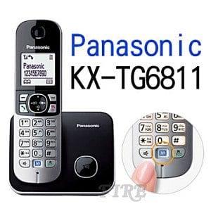 【Panasonic國際】KX-TG6811 DECT數位無線電話(黑)?最新功能..一鍵降噪 ?