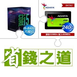 ☆自動省★ i5-8400處理器(X2)+ADATA 威剛 Ultimate SU650 240G 2.5吋SSD (X2)