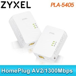 ZyXEL 合勤 PLA-5405 V2 電力線上網設備《雙包裝》