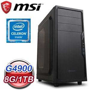 微星 文書系列【遁甲天書】G4900雙核 商務電腦(8G/1TB)