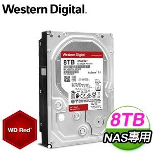 WD 威騰 8TB 3.5吋 5400轉 256M快取 SATA3紅標NAS硬碟(WD80EFAX)