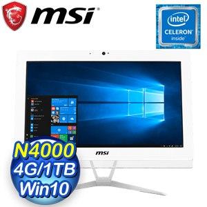 MSI 微星 PRO 20EXTS 8GL-010TW 20型觸控AIO液晶電腦(N4000/4G/1TB/Win10)