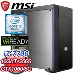 微星 HIGHER【復仇者蜘蛛人】Intel i7-7700四核心 GTX1060 高效能SSD電競電腦
