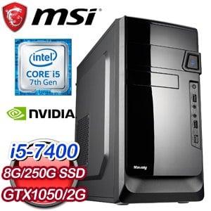 微星 PLAYER【復仇者黑寡婦】Intel i5-7400四核心 獨顯電玩機