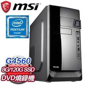 微星 文書系列【復仇者火箭浣熊】G4560雙核 商務電腦(8G/120G SSD)