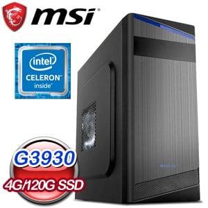 微星 文書系列【復仇者幻視】G3930雙核 商務電腦(4G/120G SSD)