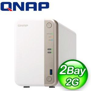 QNAP 威聯通 TS-251B-2G 2Bay NAS網路儲存伺服器