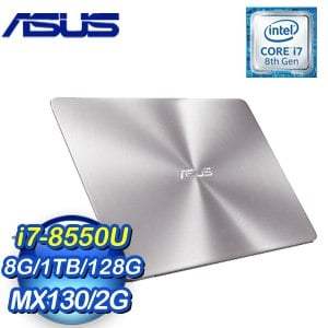 ASUS 華碩 ZenBook UX410UF-0131A8550U 14吋筆記型電腦(灰/i7-8550U/8G/1TB+128G/MX130/Win10)