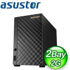 ASUSTOR 華芸 AS3102T v2 2Bay NAS網路儲存伺服器