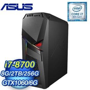 ASUS 華碩 ROG STRIX GL12CM-0022C870GXT 電競桌上型電腦(i7-8700/8G/2T+256G/GTX1060/Win10)