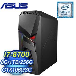 ASUS 華碩 ROG STRIX GL12CP-0031B870GXT 電競桌上型電腦(i7-8700/8G/1T+256G/GTX1060/Win10)