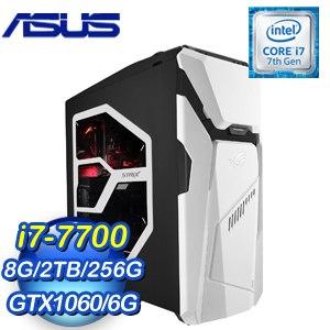 ASUS 華碩 ROG STRIX GD30CI-0051A770GXT 電競桌上型電腦(i7-7700/8G/2T+256G/GTX1060/Win10)