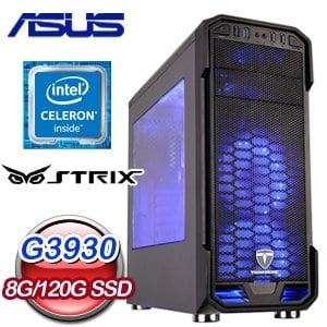 華碩 文書系列【萬紫千紅】G3930雙核 商務電腦(8G/120G SSD)