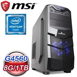 微星 文書系列【金石良言】G4560雙核 商務電腦(8G/1TB)