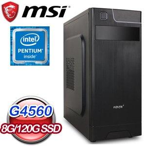 微星 文書系列【點鐵成金】G4560雙核 商務電腦(8G/120G SSD)